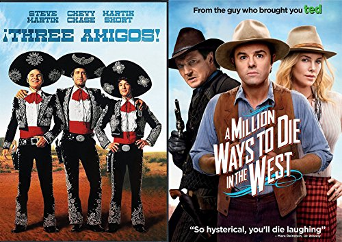 The Western Comedy 2-Funny Pack - A Million Ways to Die in the West & Three Amigos Double Feature Movie -