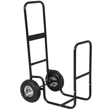 Carro leña para leña chimenea madera Motor para vehículos de rack Caddy Rolling Dolly chimeneas y