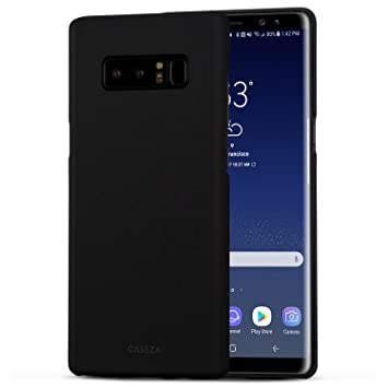 CASEZA Funda Galaxy Note 8 Negro Rio Carcasa Trasera Ultrafina con Acabado Goma Mate - Excelente Funda Rígida Protectora - Aspecto y Tacto de Calidad ...
