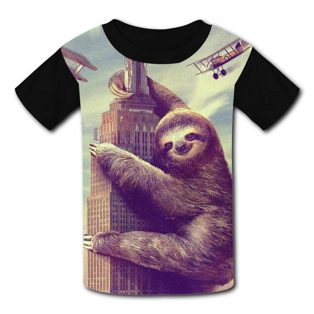 YAsedd Kids Sloth Occupying The World O-Neck T Shirts for Fashion Children Boys Girls Tee Shirt