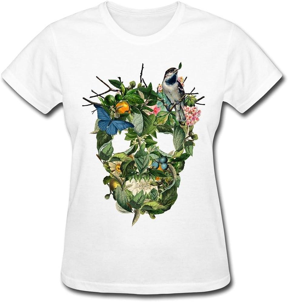 Vansty Nature Cool Skull 100% Cotton T Shirt for Female