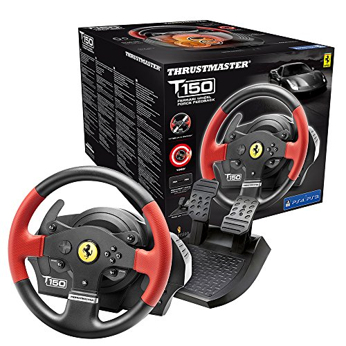 Thrustmaster T150 Ferrari Edition, Volante PS4 / PS3 / PC Force Feedback, Licencia Oficial Ferrari