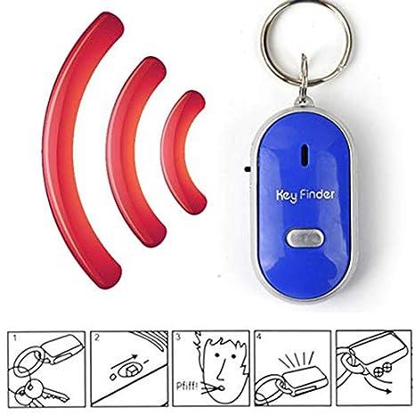 PoeHXtyy - Llavero localizador de llavero con luz LED para encontrar las llaves perdidas, azul