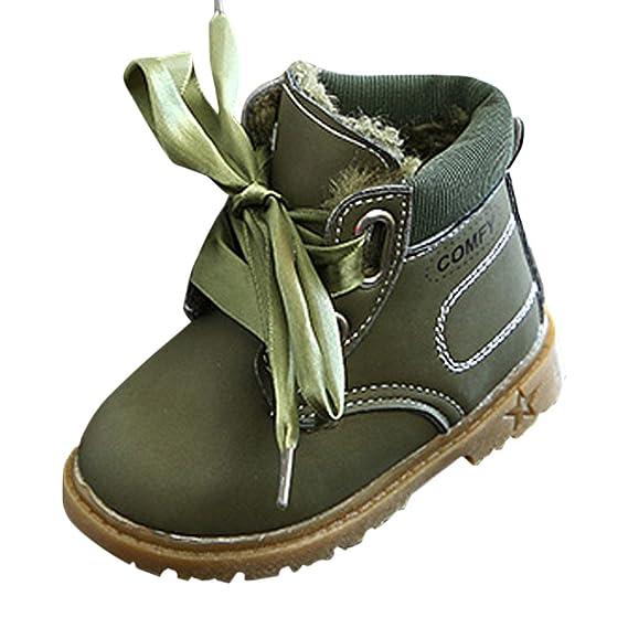 YanHoo Zapatos para niños Botas de otoño e Invierno Infantiles con Botines Impermeables Zapatillas de Deporte Invierno Gruesa Nieve Bebé Zapatos Casuales: ...