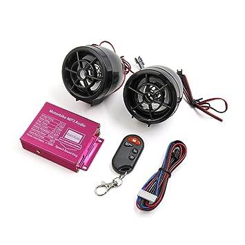 sourcingmap® 2pcs Negro Accesorio de Motocicleta alarma ...
