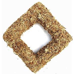 "11"" Sphagnum Moss Living Wreath Form, Square, Natural/Organic Original 4"