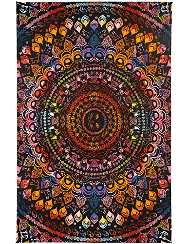 Sunshine Joy 3D Rainbow Cat Tapestry Tie Dye Kitty Mandala Wall Hanging Huge 60x90 Inches for $<!--$32.95-->