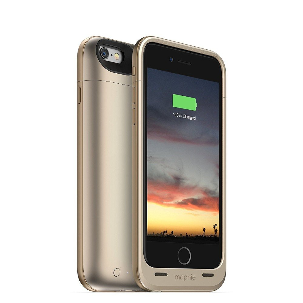 mophie juice pack Air - Slim Protective Battery Case for Apple iPhone 6 / iPhone 6s - Black JPA-IP6-BLK