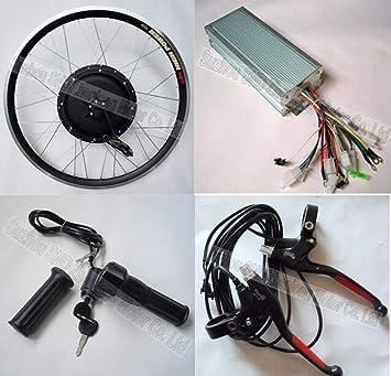 GZFTM - Kit de conversión de Motor eléctrico para Bicicleta eléctrica, 48 V, 1000 W, 20 Pulgadas 1000 W Frontal.: Amazon.es: Deportes y aire libre