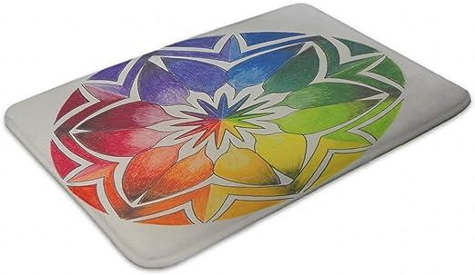 kikomia Mandala Flores Multicolor mágica Exterior Manta Interior ...