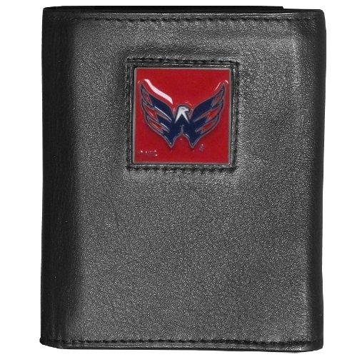 Nhl Tri Fold Wallet - NHL Washington Capitals Genuine Leather Tri-Fold Wallet