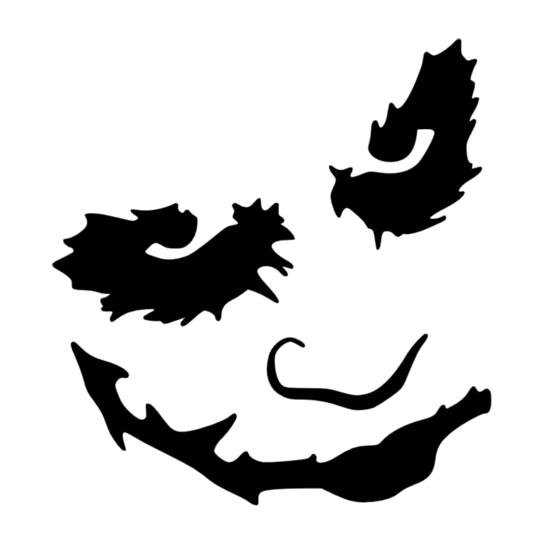 1 x joker heath ledger black cardecalvandoorwindowstickersigninternalexternalsuicide squadbatmanjared letoclownevilbadvillonmadcrazyrich