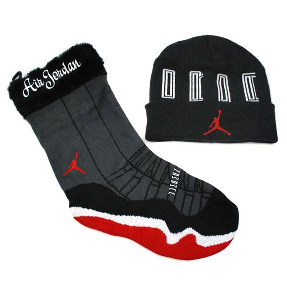 Air Jordan Retro XI Holiday Gift Set Stocking Beanie Black - Red One Size