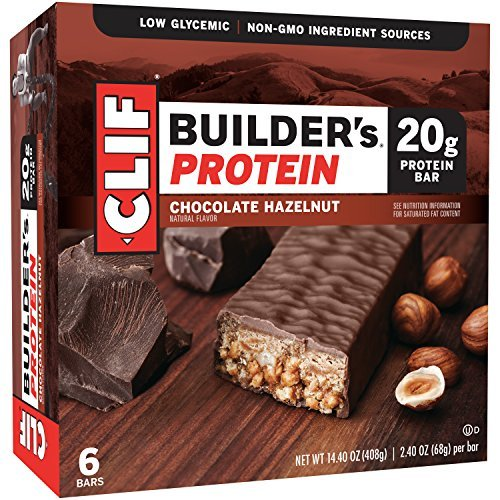 Clif Builders Bar Protein Food Bar, Chocolate Hazelnut, 6 Count by Clif Builders (Clif Builders Bar Chocolate)