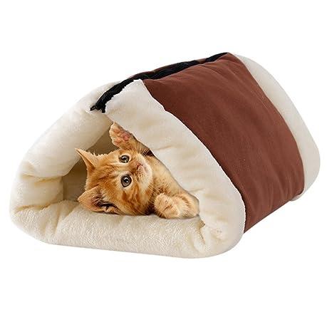 ANPI Alfombra de túnel 2 en 1, Saco de Dormir Felpudo cálido y cónico,