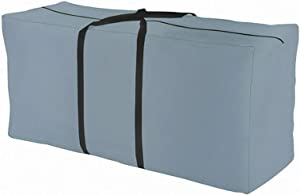 Orqihod Outdoor Furniture Seat Cushions Storage Bag with Zipper Patio Cover Carrying Bag Large Size Grey Waterproof