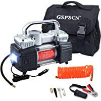 GSPSCN 150PSI 12V Portable Air Compressor with LED Work Lights