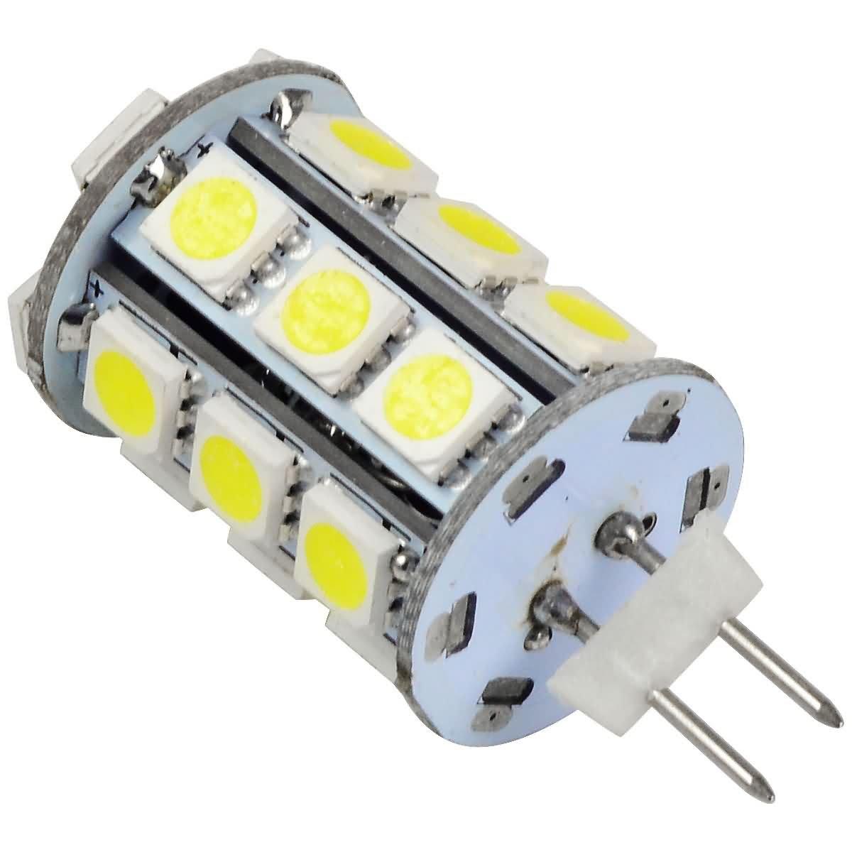 Lámpara de mesa 6X MENGS G4 LED de 1,5 W 2.2 W 2.5 W 3 W 4 W de CC de 12 V luz blanca fría 6000 K 5050 SMD, blanco, G4, 4|wattsW, 12|voltsV: Amazon.es: ...