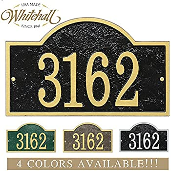 house number sign plaque modern frosted glass effect address for vinyl siding brick personalized cast metal arch top four colors custom