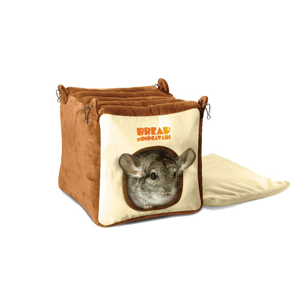 Emours Small Animal Warmly House Cage Hanging Bed with Bed Mat for Chinchilla , Guinea pigs , Squirrel and Other Similar Size Animals, Large