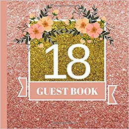 18 Guest Book 18th Birthday Celebration And Keepsake Memory Signing Message Party Decorations18th Supplies