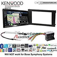 Volunteer Audio Kenwood DNX574S Double Din Radio Install Kit with GPS Navigation Apple CarPlay Android Auto Fits 2002-2008 Audi A6