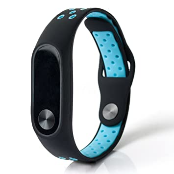 Xiaomi Mi Band 2 Recambio de Pulsera, Correa de actividad Sport Style Reemplazo [Transpirable] pulsera de repuesto Deportiva [Cierre de Seguridad] Mi ...