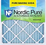 Nordic Pure 16x16x1PBS-3 Pure Baking Soda Air Filters (Quantity 3), 16'' x 16'' x 1''