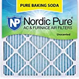 "Nordic Pure 14x14x1 Pure Baking Soda Odor Deodorizing AC Furnace Air Filters, 14"" x 14"" x 1"", 3"