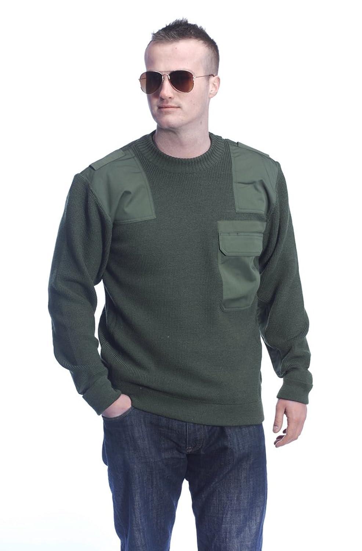 German Police Green Wool Jumper Small