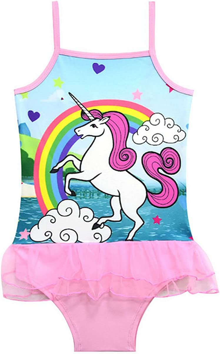 Fribro Baby Swimsuit one-Horned Childrens Unicorn Bathing Suit Girl Cute hot Spring Girl Swimsuit