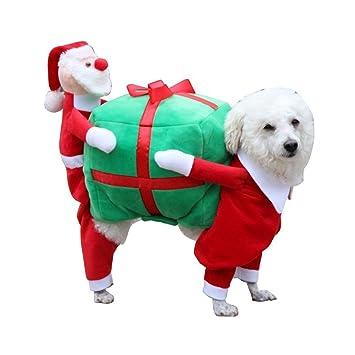 foox pet christmas costumes dog suit with cap santa suit dog hoodies santa claus gifts - Santa Claus Gifts