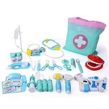 NextX 35 unids Juego de simulación médicos Conjunto niños Caja médica Juego de Roles Juego Juguete