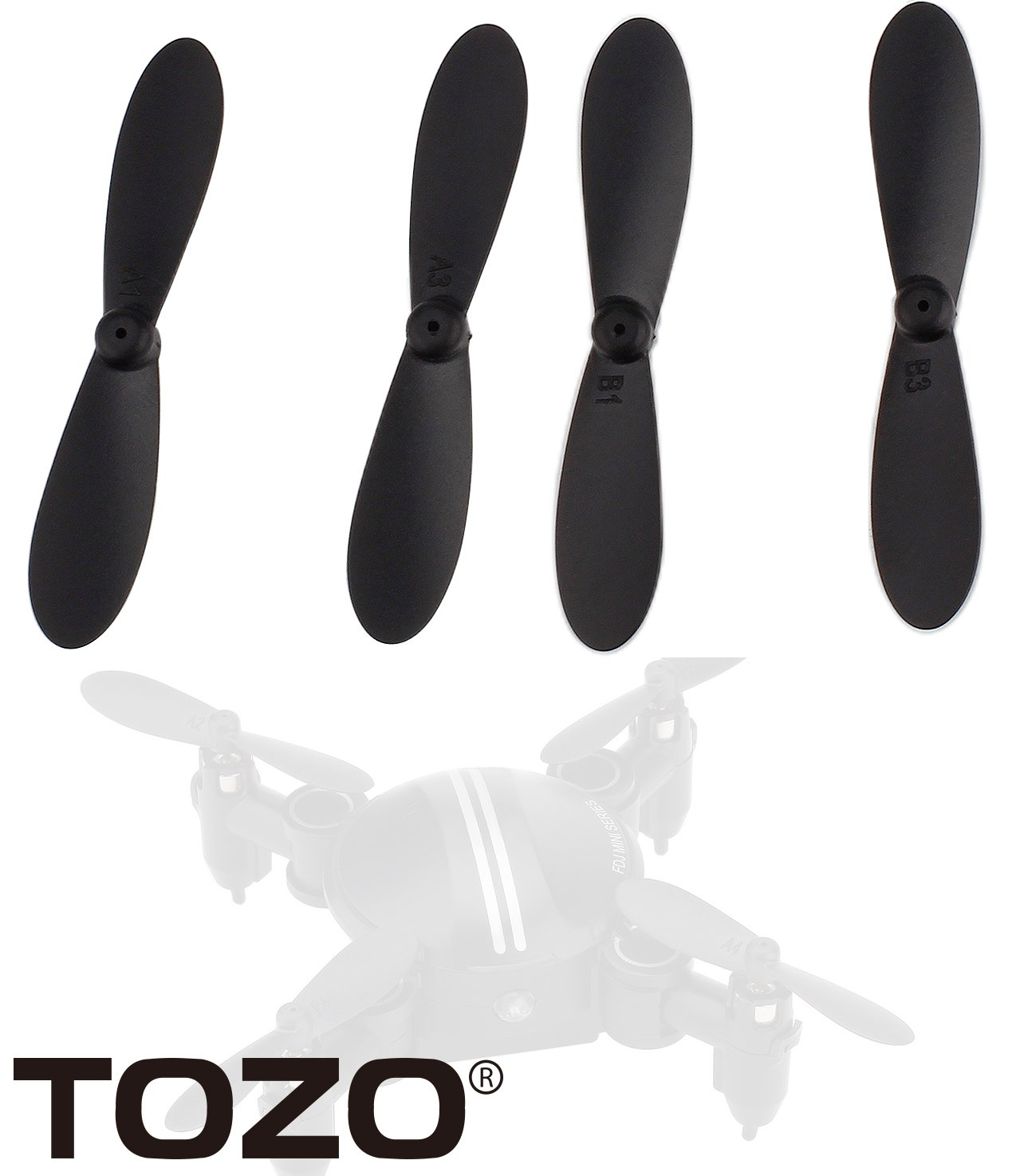 TOZO Screw Blade Propeller for FDJ Mini Z201 Drone RC Quadcopter ...