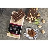 Chocolate negro 72% con cacao ecológico, almendras y stevia. Sin azúcar. Apto