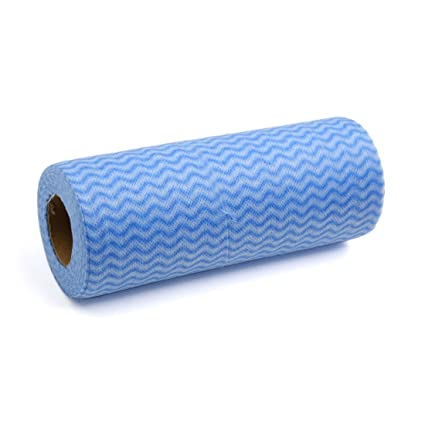 Sourcingmap – ® 50PCS desechable hogar cocina paño de limpieza lavable tela no tejida paño toallitas