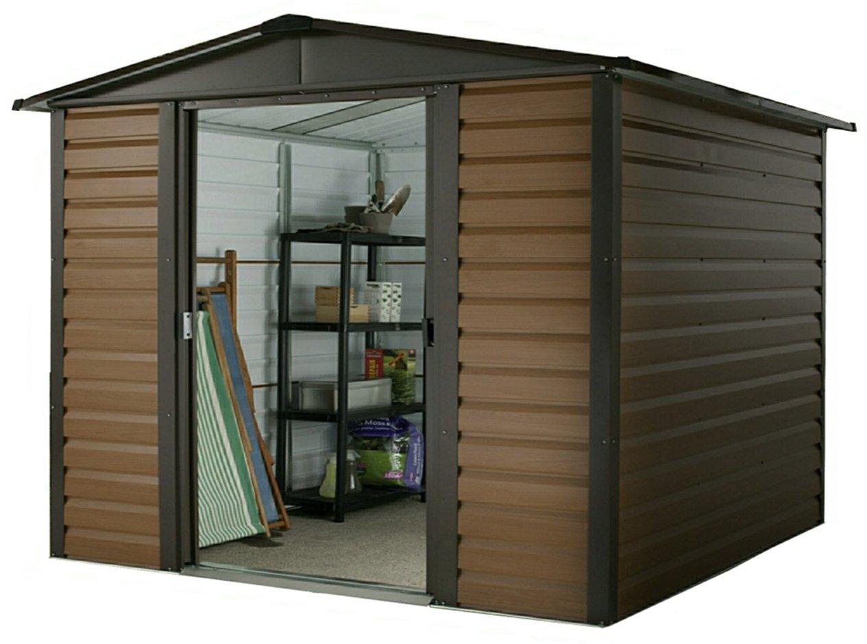 Yardmaster 10 x 8 ft metal cobertizo (cobertizo, madera: Amazon.es: Jardín