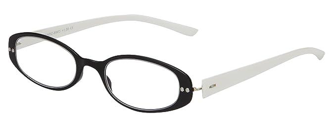 079f992b01 Spring Hinge Flexible Bendz Reading Glasses Oval Reader Women Black White