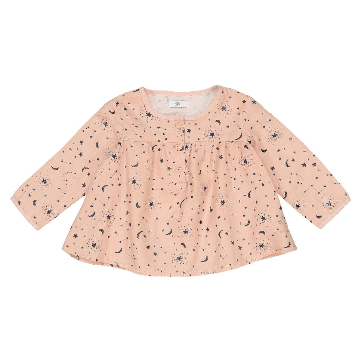 1 Month-3 Years La Redoute Uniross Long-Sleeved Printed Blouse