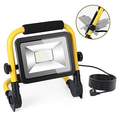 Foco LED Proyector 50W, Super Brillante Luz de Trabajo 4500LM, 3 ...