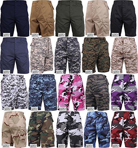 Military-Cargo-BDU-Shorts-Tactical-6-Pocket-Uniform-Shorts-with-ARMY-UNIVERSE-Pin