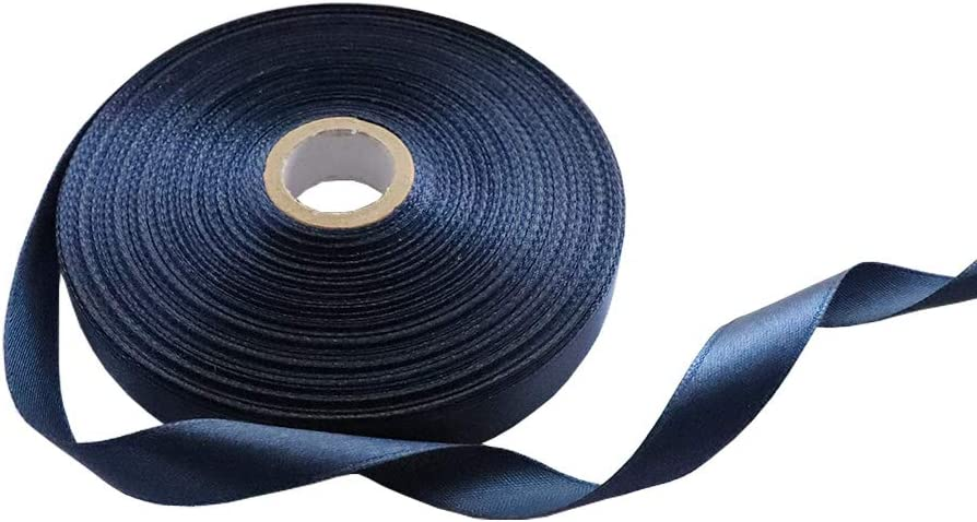 Black 1//2 Inch Single Face Solid Polyester Satin Ribbon 50 Yards for Gift Package Wrapping,Floral Design,Hair Bow Clip Making,Crafting,Sewing,Wedding Decor,Boy Girl Baby Shower