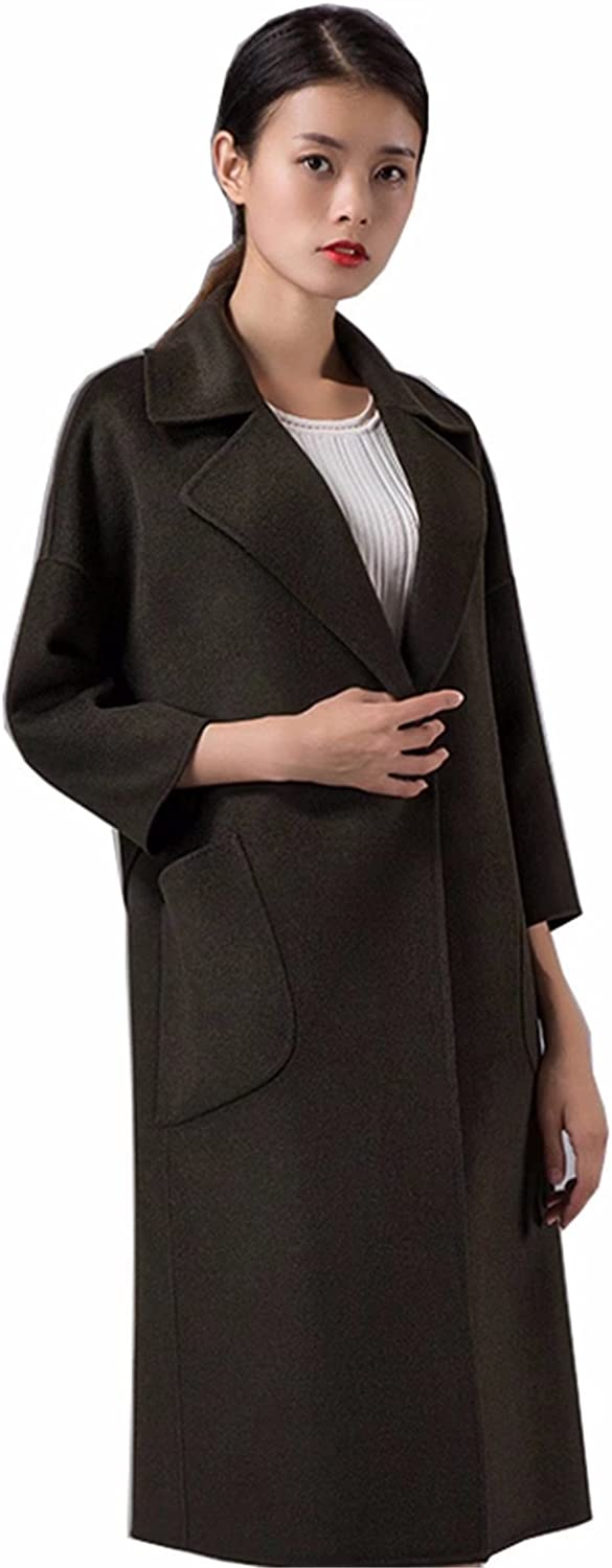 Trench Womens Elegant Cashmere Jacket Coat Embroidered Wool Line Parka outwear