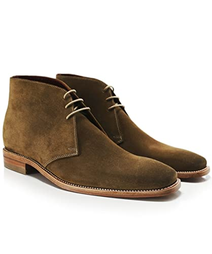 Loake Men's Suede Trapper Chukka Boots Tan