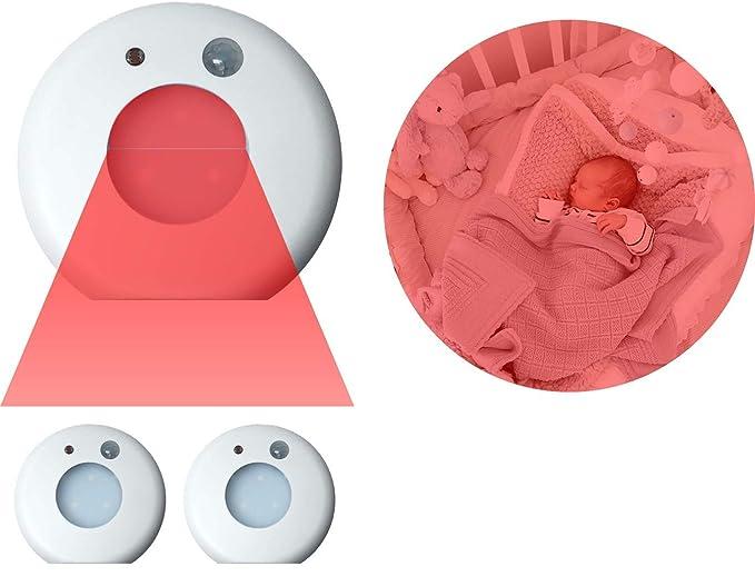 Amazon.com: Nursery luz nocturna – motion-activated Rojo LED ...