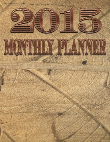 2015 Monthly Planner  Vintage Cover Day Planners  Organizers    Calendars   Volume 1