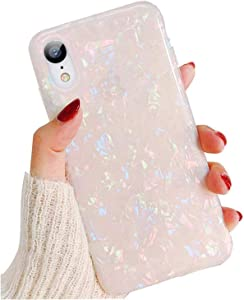 Compatible iPhone XR Case for Girls Women, GYZCYQ Cute Phone Case Glitter Pretty Design Protective Shockproof Pearly-Lustre Shell Slim Soft TPU Cover Compatible for iPhone XR Case (Colorful)