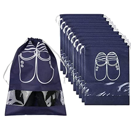 TOOGOO Bolsas Organizador de Zapatos de Viaje para Botas, Tacón Alto, Cordón, Ventana Transparente, Bolsas de Almacenamiento de Ahorro de Espacio ...