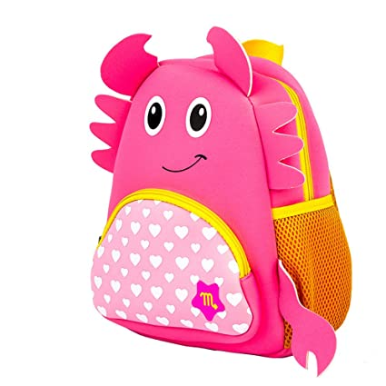 FTXJ Cute Kids Baby Girls Boys Cartoon Constellation Zipper Backpack School Shoulder Bags (H,