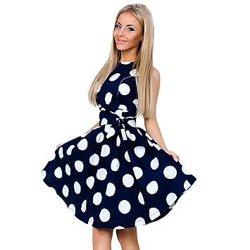 Vestido de fiesta de verano para mujer, LILICAT® 2018 Vestido de noche de impresión